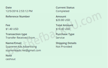 supremeads payment proof
